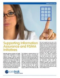 Supporting Information Assurance and FISMA...